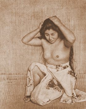Woman Combing Her Hair   Yasuzo Nojima 1914